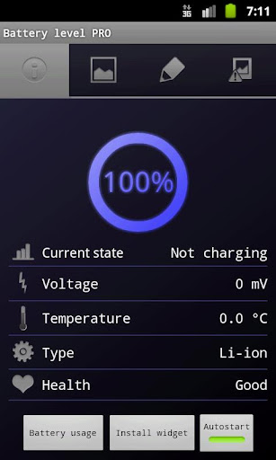 Battery level PRO - screenshot
