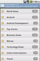 Screenshot of a Simple Google Reader