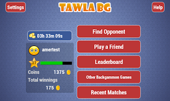 Screenshot of Tawla Backgammon