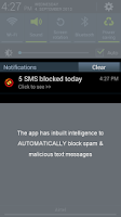 Screenshot of SMS Blocker AWARD WINNER Premi