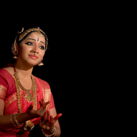 Indian Classical dance by Anand Raghavan - People Musicians & Entertainers ( color, performance, classical dance, india, baratham, light, chennai )