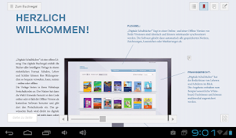Screenshot of Digitale Schulbücher