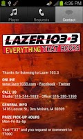 Screenshot of Lazer 103.3