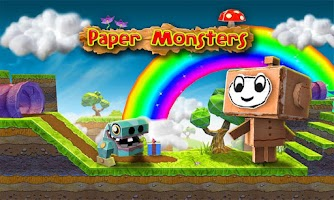 Screenshot of Paper Monsters 3d platformer