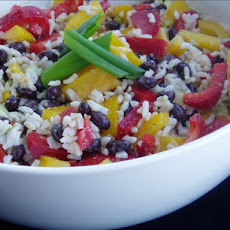Caribbean Rice and Black Bean Salad