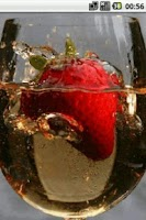 Screenshot of Strawberry in a glass