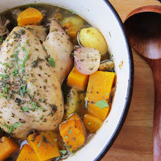 Chicken in a Pot (Poule au Pot) With Potatoes and Squash