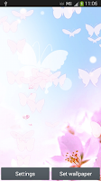 Screenshot of White Butterfly Live Wallpaper