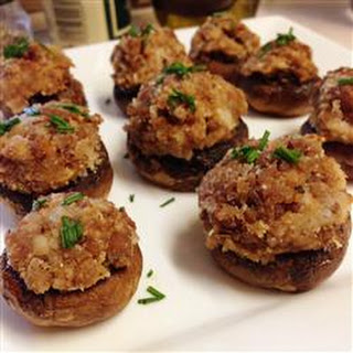 Caroline and Brian's Stuffed Mushrooms