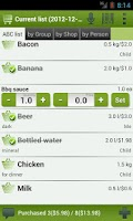 Screenshot of LazyShopper - Shopping List