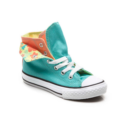 Converse Flower Double High Top FOLD OVER TRAINER