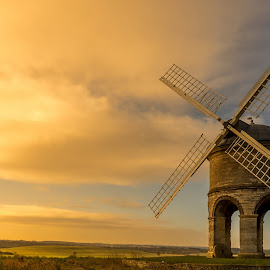 windmill in sunset by Pawel Piskorz - Buildings & Architecture Other Exteriors ( sunset, windmill, chesterton windmill )