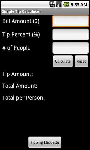 Simple Tip Calculator