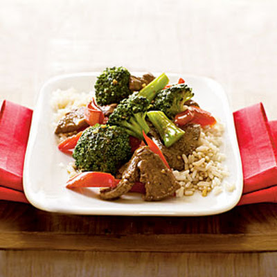 Stir-Fried Beef with Broccoli and Bell Peppers
