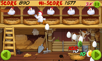 Screenshot of Angry Chicken : Egg Madness !