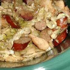 Smoked Sausage with Cabbage and Apples