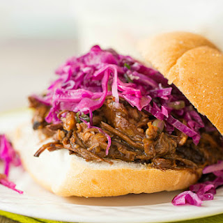 Slow Cooker Honey-Balsamic Pulled Pork with Asian Slaw