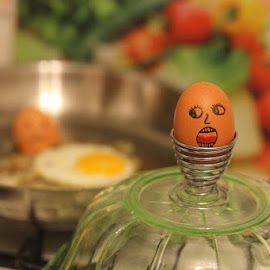 Not everyone is eggcited for Easter Morning breakfast.  Teeheehee!Have a cracking day everyone! by Jess Glass - Food & Drink Ingredients