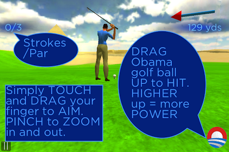 Obama Golf Around The World - screenshot