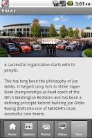 Screenshot of Joe Gibbs Racing iCrew