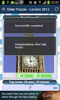 Screenshot of Slider Puzzle - London 2012