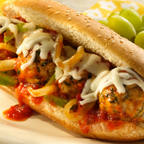 Cheesy Turkey Meatball Subs