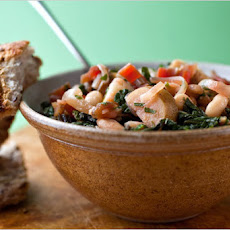 Shell Beans and Potato Ragout With Swiss Chard