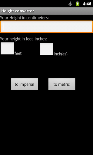 Height Conversion - Feet & Inches to Metres & Centimetres