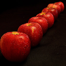 Apple lining up. by Andrew Piekut - Food & Drink Fruits & Vegetables