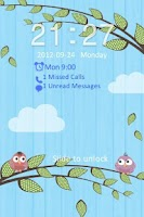 Screenshot of Go Locker Love Birds Theme