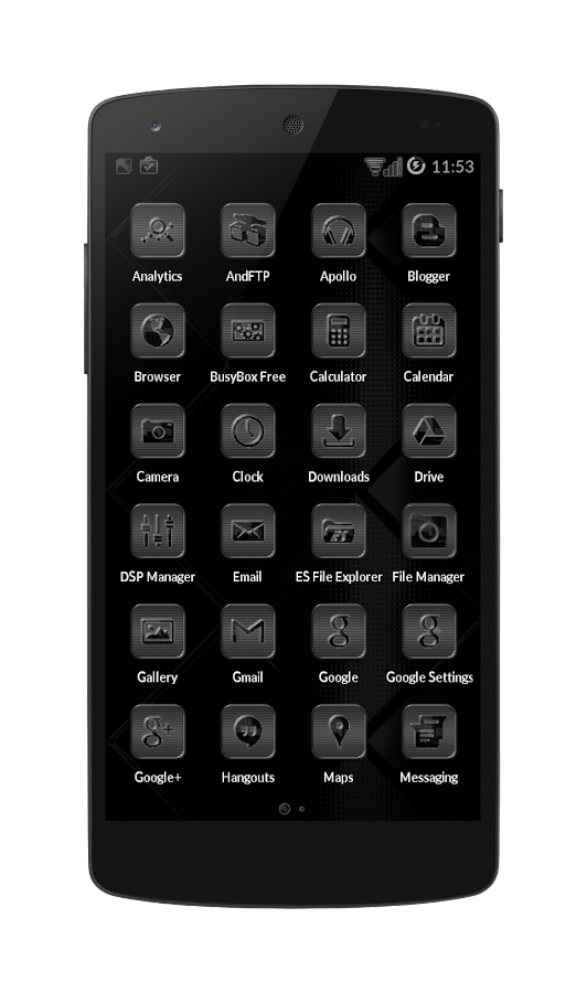 Black Glass Icons Screenshot 2