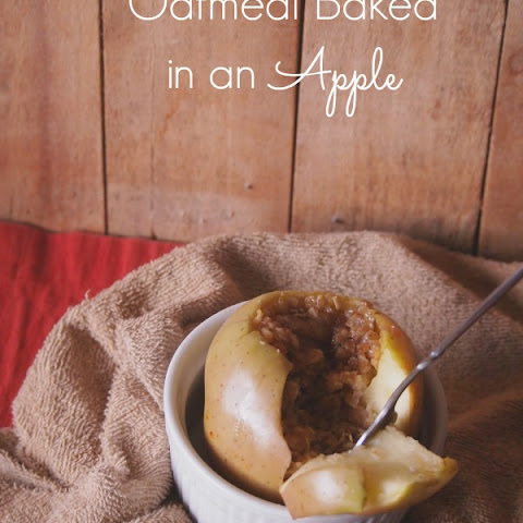 Oatmeal Baked in An Apple
