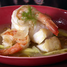 Cod and Shrimp in Fennel and White Wine Broth