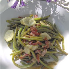 Green Bean, Bacon and Cucumber Salad