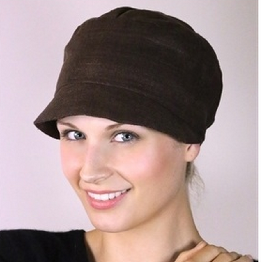 Silk soft hat bitter chocolate