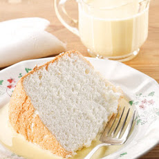 Mama's Angel Food Cake with Bourbon Creme Anglaise
