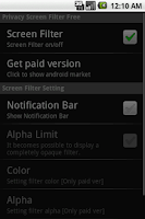 Screenshot of Privacy Screen Filter Free