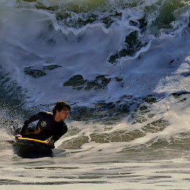 The Wedge Surfer by Jose Matutina - Sports & Fitness Surfing ( orange county, surfer, california, newport beach, sport, ocean, the wedge )