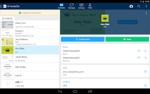 CamCard - Business Card Reader v6.8.0.20160621 Apk