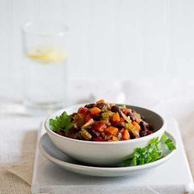 Vegetarian Chili Recipe with Roasted Chiles