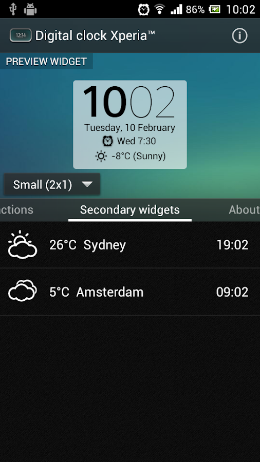 Digital Clock Widget Xperia Screenshot 5