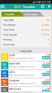Bills Tracker - BillsOnMobile Business app for Android Preview 1