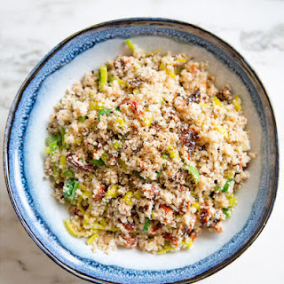 "Cauliflower ""cous Cous"" With Leeks And Sun-dried Tomatoes"