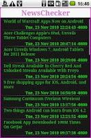Screenshot of News Checker