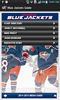 Screenshot of Columbus Blue Jackets