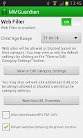 Screenshot of MMGuardian™ Parental Control