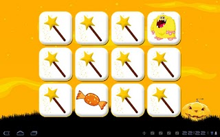 Screenshot of Halloween Memory Game Tablet