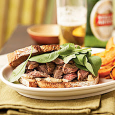 Steak Sandwiches with Worcestershire Mayonnaise