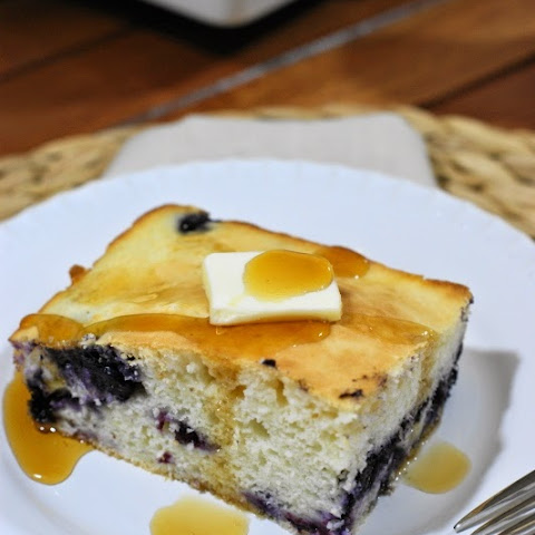 Baked Blueberry Buttermilk Pancake