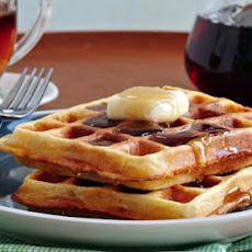 Golden Cornmeal Waffles
